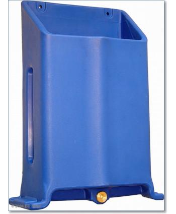 Blauer P.A.-Behälter für Plastikbürste