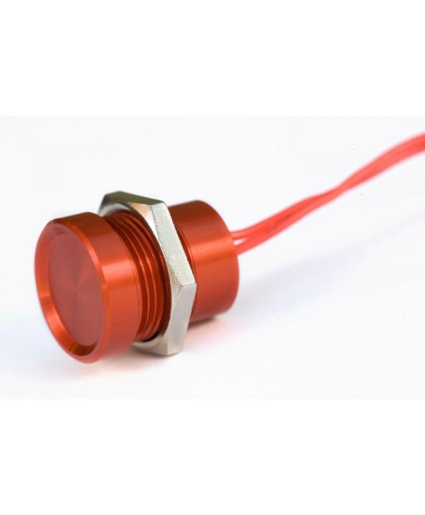 Pulsador rojo táctil de Ø18 mm 24Vc