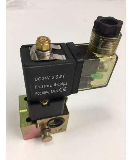 """Électrovanne pneumatique 1/4"""", 0-16bar 24VDC"""
