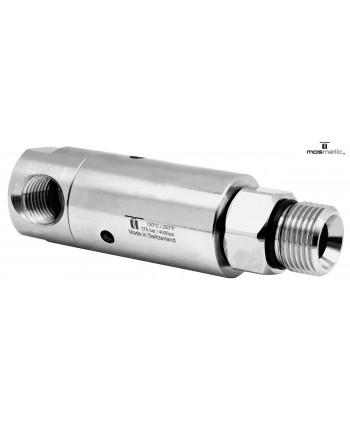 "Racor giratorio 90º DYLI 3 Rod. G1/4""F-G3/8""M"