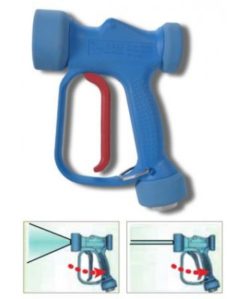 Pistola baja presión RB 65 - Chorro regulable - 100l/min + sw. 5 G1/2H