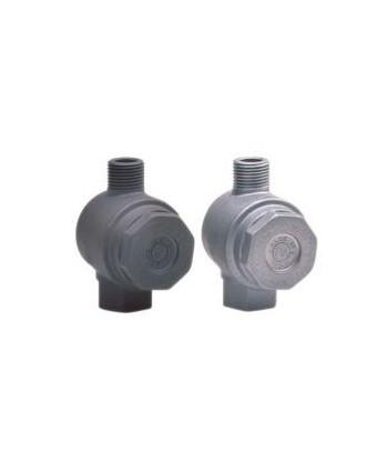 Filtro FA 1 aluminio con bypass G1/2H-G1/2M 400 micras tto protector negro