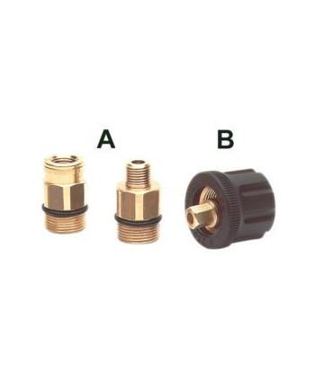 Enchufe AR4 Tipo B M22 2 Pzs. +Encaje hexagonal Gas IN G1/4H