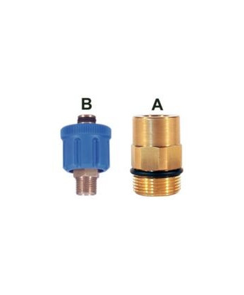 Enchufe AR8 350 bar M24 2 Juntas tóricas Gas Tipo A IN G1/4H