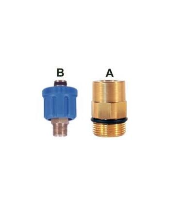 Enchufe AR8 350 bar M24 2 Juntas tóricas Gas Tipo B 3 Pzs. IN G1/4M
