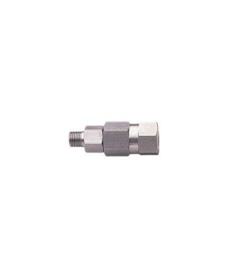 Racor giratorio recto inox. de 3/8""