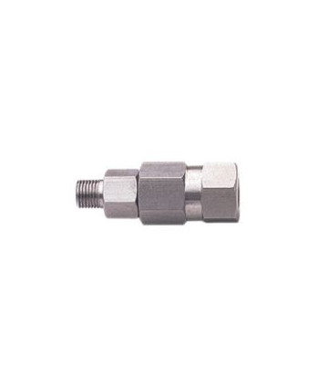 Racor giratorio recto inox. de 1/4""