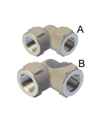 Racores en codo AI303 600bar G3/8H-G3/8H Tipo A