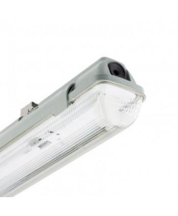 Pantalla Estanca para 1 Tubo de LED 600mm PC/PC Conexión un Lateral