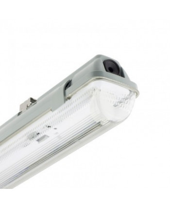 Pantalla Estanca para 1 Tubo de LED 1200mm PC/PC Conexión un Lateral