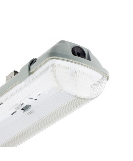 Pantalla Estanca para 2 Tubos de LED 1200mm PC/PC Conexión un Lateral