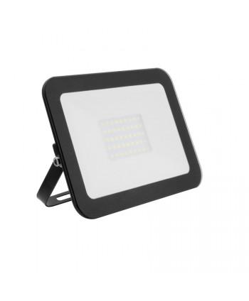 Foco Proyector LED Slim Cristal 30W Negro