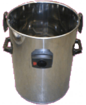 Stainless steel bucket full D. 430 mm