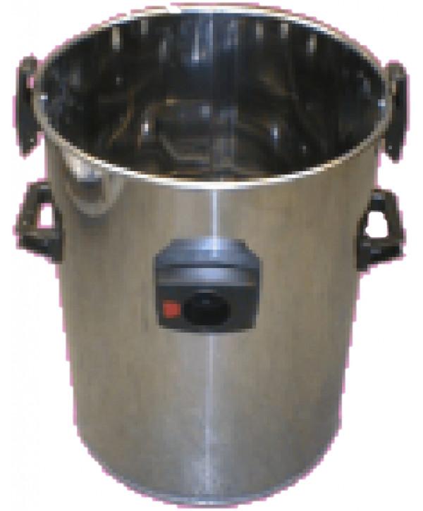 Stainless steel bucket full D. 430 mm