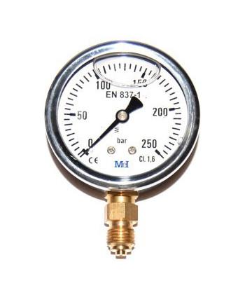 """Manomètre de pression de 0 à 25 bar 1/4"""" radial"""