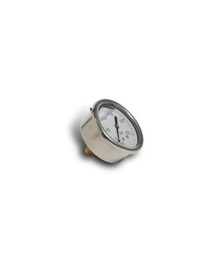 """Druckmanometer von 0-10 Bar 1/4"""" axial"""