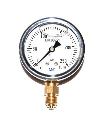 "Pressure gauge 0-10 bar 1/4"" radial"