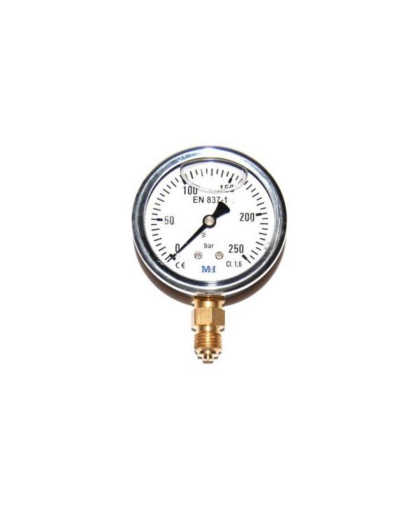 "Pressure gauge 0-10 bar 1/4"" radial"