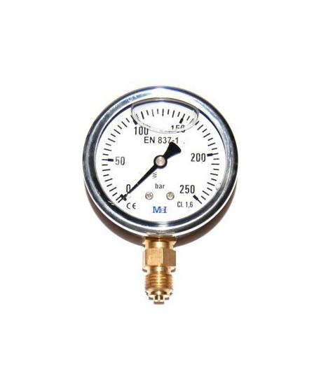 """Manómetro de presión de 0-10 bar 1/4"""" radial"""