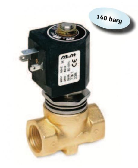 """Electroválvula 1/2"""" Alta presión 24 V AC 140 bar"""