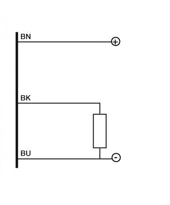 Inductive 2/D12 detection 4mm cable 2m NON-flush mountable