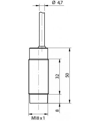 Inductive 3/D18 detection 8mm cable 2m non-flush mountable