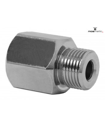 """Adaptor stainless steel VER-09 G3/8""""F G3/8""""M L-22 SW22"""