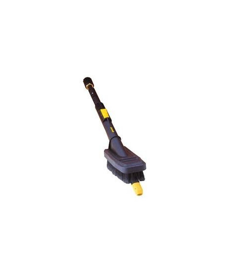 Retractable lance with longitudinal brush (compatible Karcher)