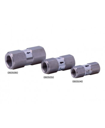 "Check valve in Stainless steel Ø 8 G 1/4"" 25l/min"