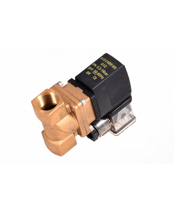 """Electrovalvula 1/2"""" 0,3-16bar 24VDC (compatível burkert)"""