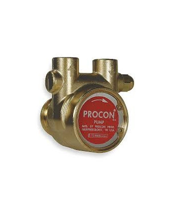Bomba rotativa de bronce de 400 l/h con bypass
