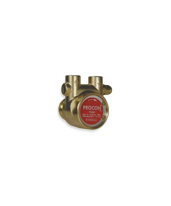Pump rotary vane brass 600 l/h with bypass