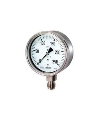 """Manómetro de presión de 0-250 bar 1/4"""" radial"""