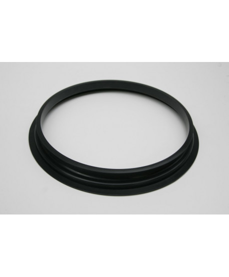 Schwarzer Ring für Baumwollfilter